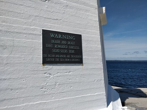 Peggy's Cove Warning
