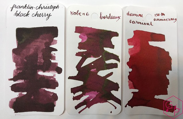 Franklin-Christoph Black Cherry Ink Review @1901FC 8