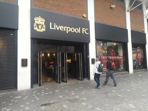 Liverpool Football Club retail store in St. John's Shopping Center, Liverpool