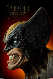 嚇死人的視覺衝擊!! Sideshow Collectibles Marvel Comics【金鋼狼】Wolverine 1:1 比例半身胸像作品