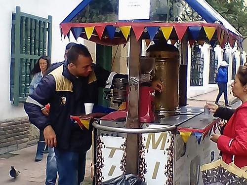 Street coffee vendor