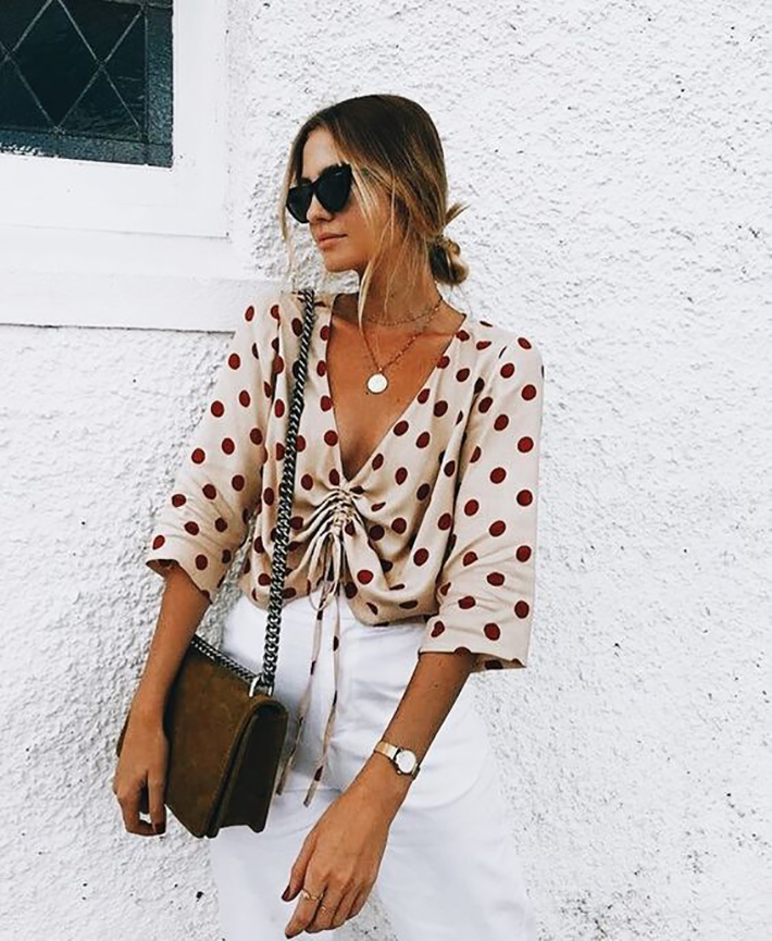 polka dot outfits for this summer trend 2018 style fashion tendencias3