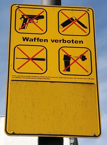 Waffenverbot   Weapons ban