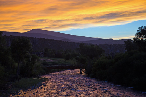 bobrussell rmrussell colorado crystalriver sunset carbondale