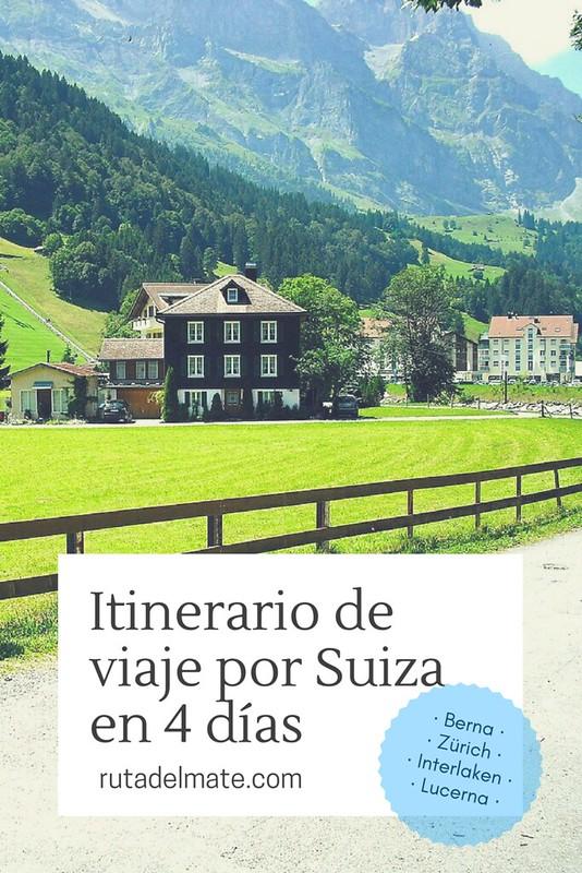 Itinerario viaje Suiza