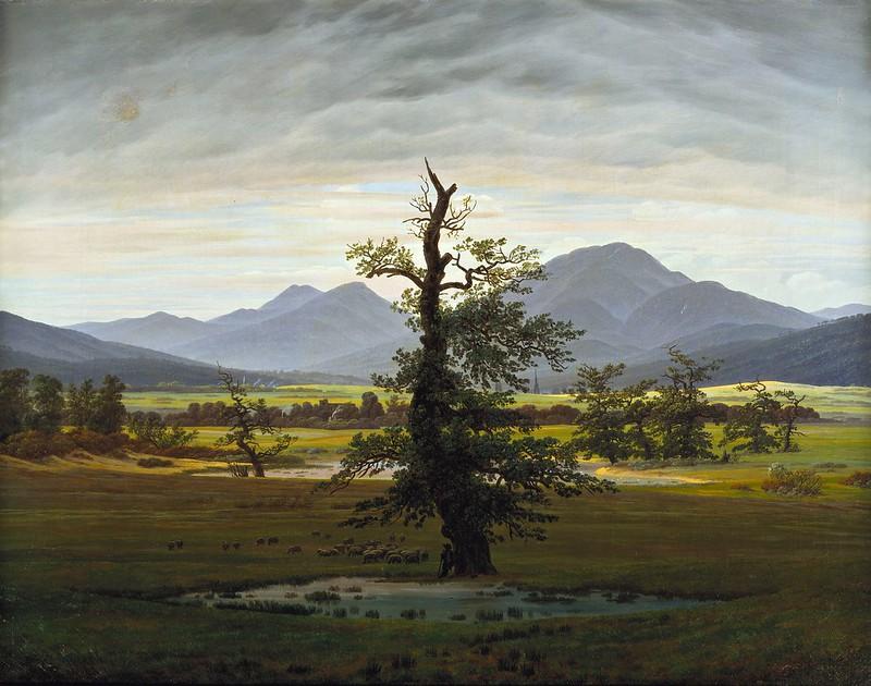 Caspar David Friedrich - Der einsame Baum (1822)