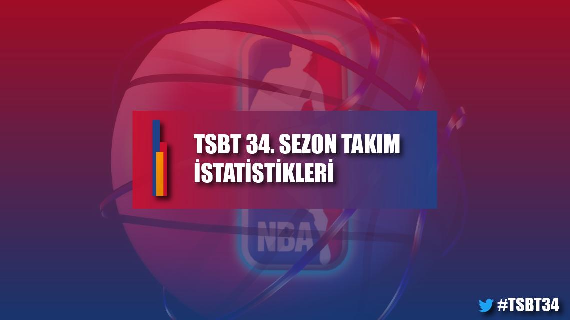 TSBT 34. sezon takım istatistikleri