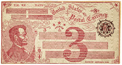 1869 Fisk Mills Postal Currency Envelope front