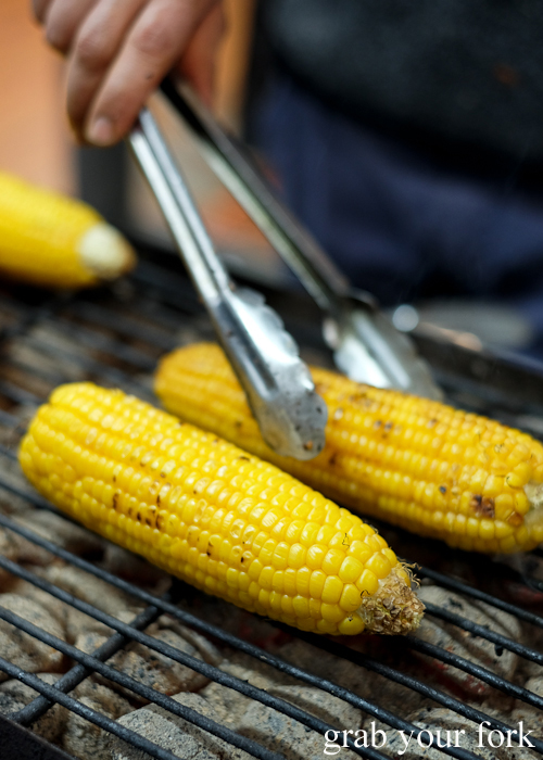 Grilled corn at Lakemba Ramadan Food Festival 2018 on Haldon Street