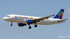 Small Planet Airlines Airbus A320-214 LY-SPI 914 Juni 2018