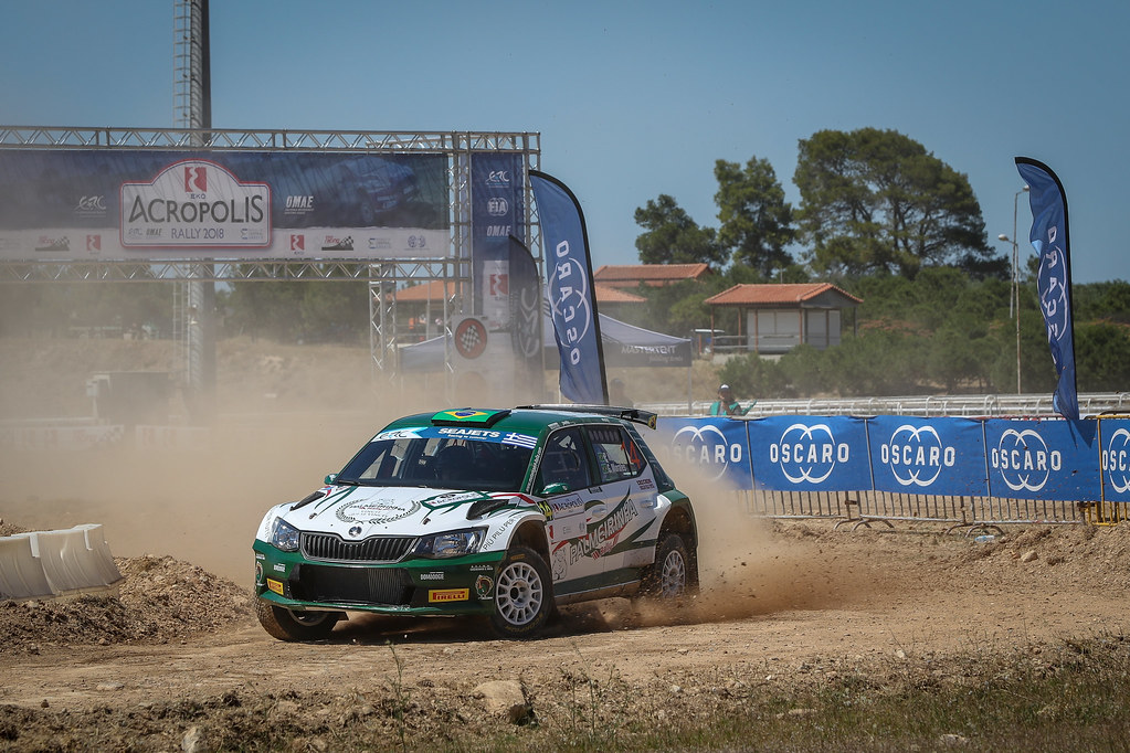 14 NOBRE PAULO (bra), MORALES Gabriel (bra), Skoda Fabia R5, action during the European Rally Championship 2018 - Acropolis Rally Of Grece, June 1 to 3 at Lamia - Photo Alexandre Guillaumot / DPPI