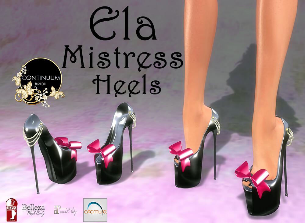 Continuum Ela Misstress Heels - TeleportHub.com Live!