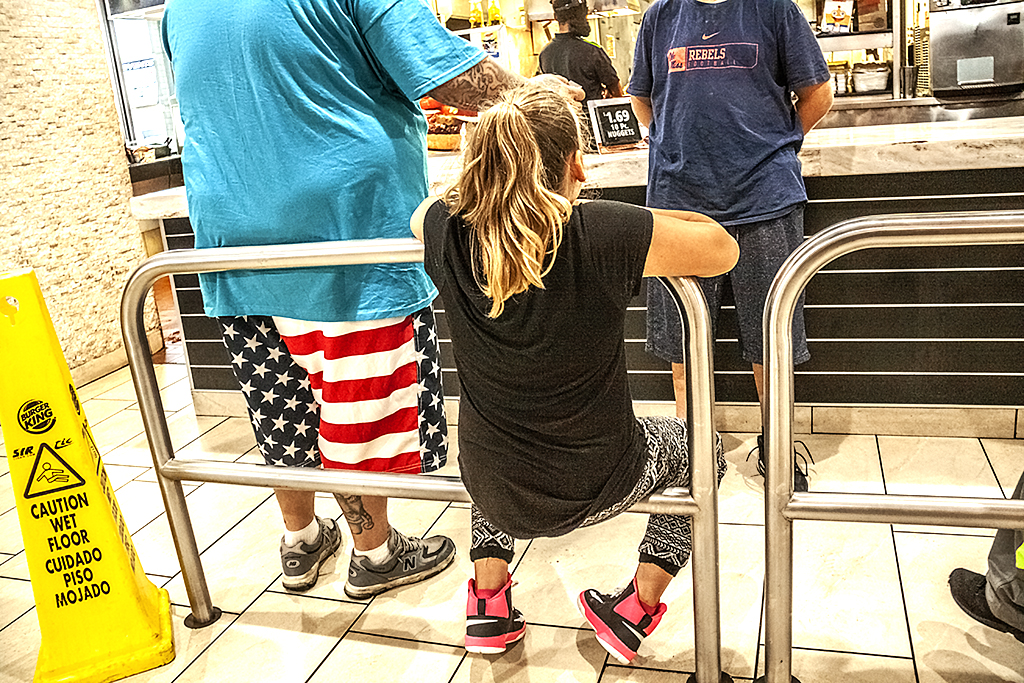 In a Burger King on 6-3-18--South Philly