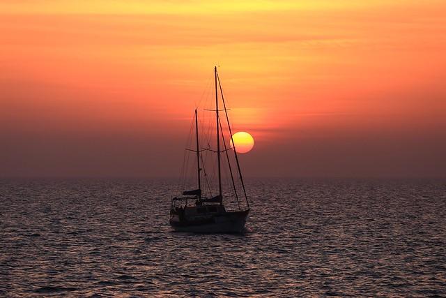 Sailing at sunset - Tel-Aviv beach - Follow me on Instagram:  @lior_leibler22