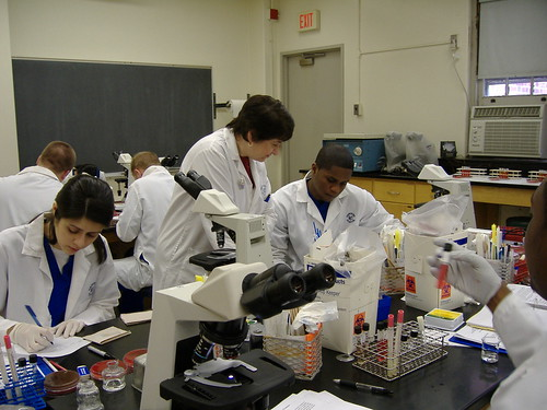 A medical laboratory sciences lab.