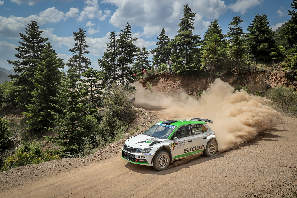 29 NORDGREN Juuso (fin), SUOMINEN Tapio (fin), Skoda Fabia R5, action during the European Rally Championship 2018 - Acropolis Rally Of Grece, June 1 to 3 at Lamia - Photo Alexandre Guillaumot / DPPI