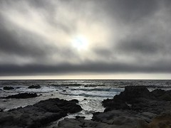 Ominous clouds and ocean on tonight's run... #asilomarstatebeach
