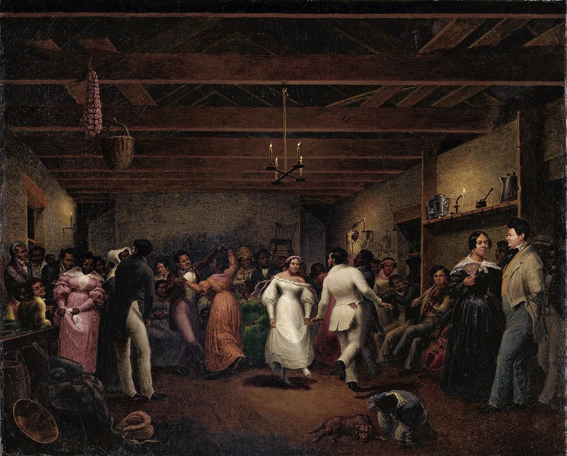 A celebration at a slave wedding --