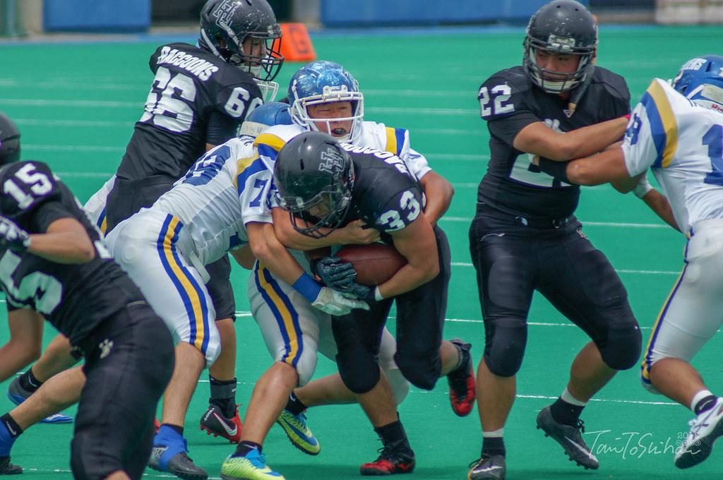 中四国学生アメリカンフットボール 春季ゲーム 広島大ー山口大