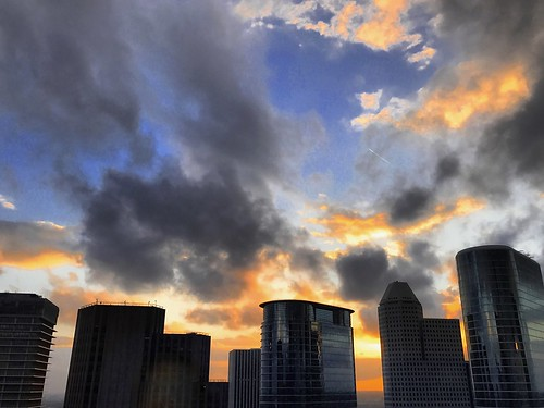 houstontexasusa sunset sky clouds dusk weather