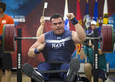 Chief Machinist's Mate participates in a powerlifting competition.