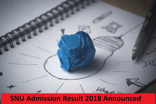 snu admission merit list 2018 announced download snusat and apt result