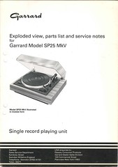 Garrard TechEng Service Manual SP25MkV