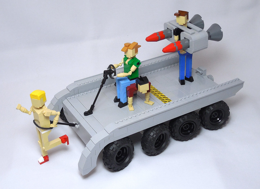 LEGO® MOC by Vitreolum: Budget Cuts Mobile Missile Launcher + Orrery