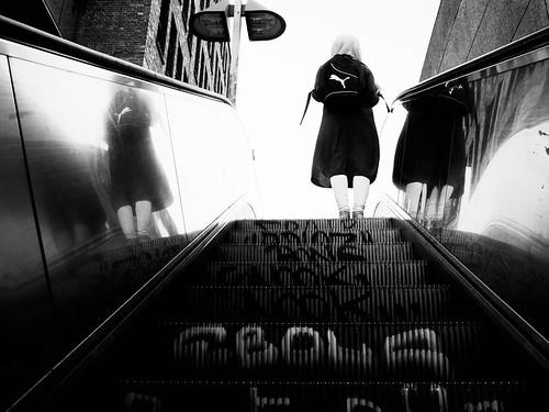 146 On the escalator
