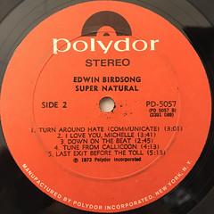 EDWIN BIRDSONG:SUPER NATURAL(LABEL SIDE-B)
