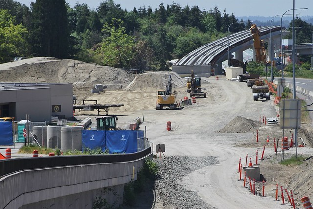 Overlake Village Station construction