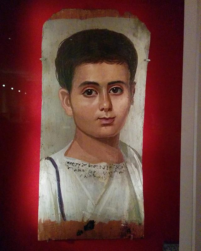 Portrait of the Boy Eutyches #newyork #newyorkcity #manhattan #metmuseum #egypt #fayumportraits #latergram