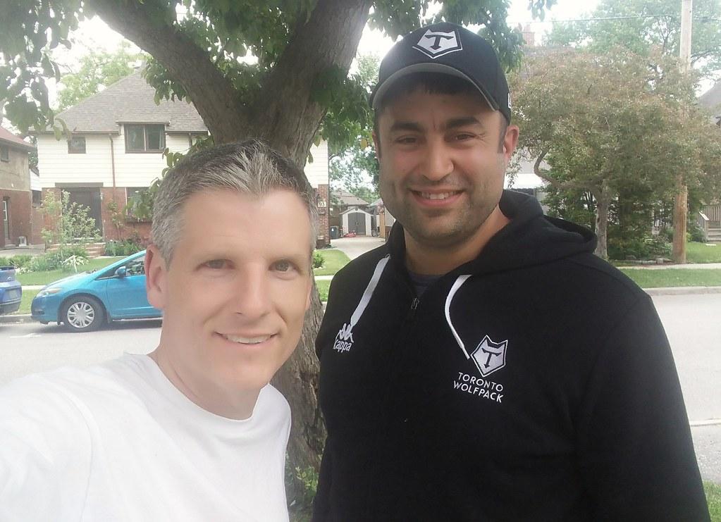 Joe Santos and me