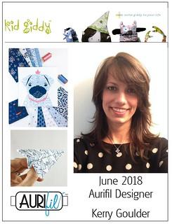 2018 Aurifil DOM June Kerry Goulder collage