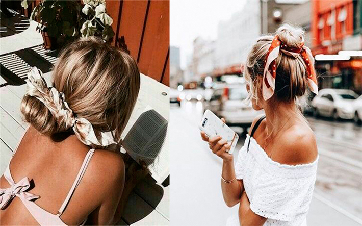 Cool Summer Hairstyles With Scarfs trend 2018 style fashion tendencias7