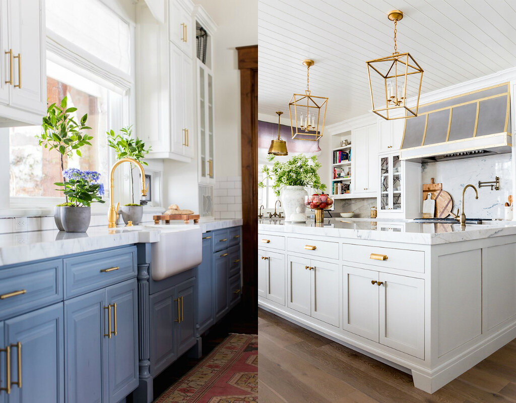 The 10 Best Kitchens on Pinterest with Gold Hardware