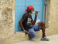 Cuban with cigar