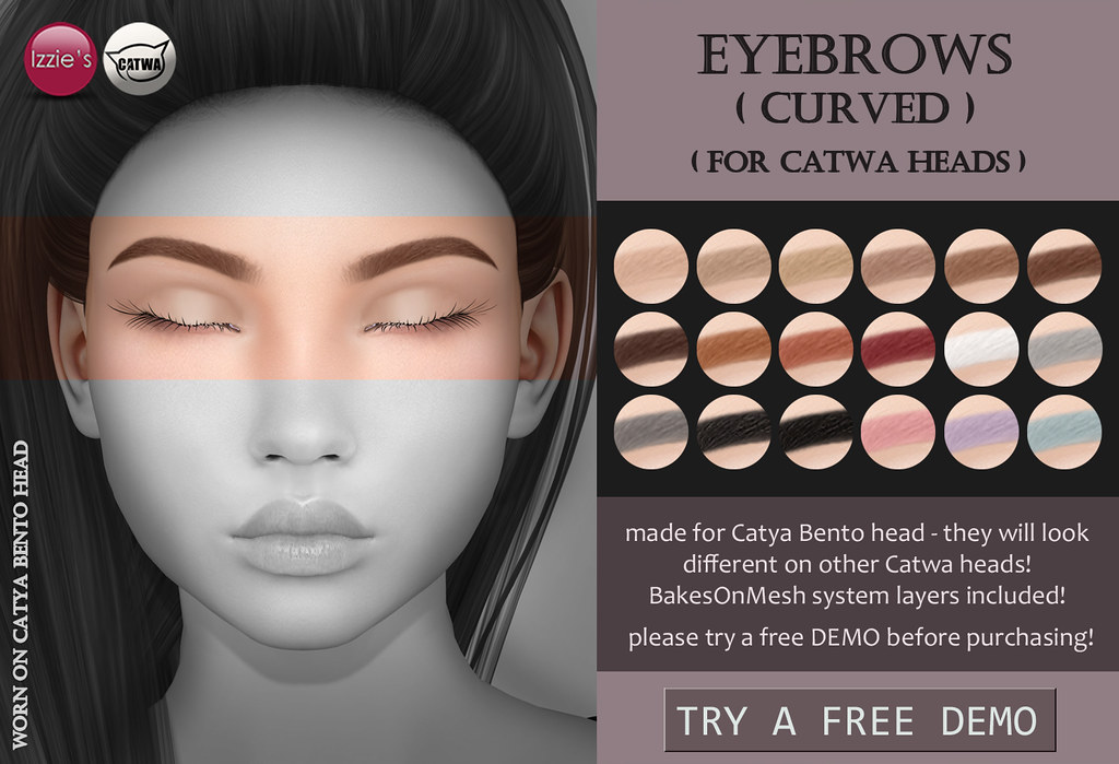 Catwa Eyebrows curved - TeleportHub.com Live!