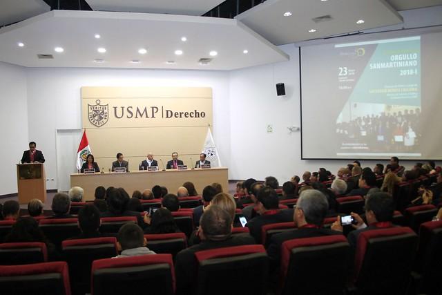 """Facultad de Derecho de la USMP celebró el """"Orgullo Sanmartiniano 2018-I"""""""