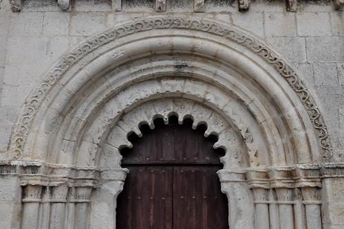 Campisábalos (Guadalajara-España). Iglesia. Portada. Detalle