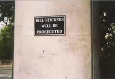 Bill Stickers is inncocent