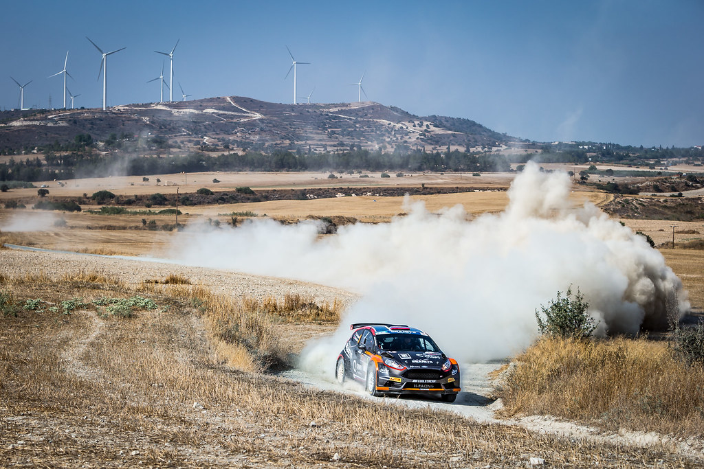 01 LUKYANUK Alexey (RUS), ARNAUTOV Alexey (RUS), RUSSIAN PERFORMANCE MOTORSPORT, FORD FIESTA R5, action during the 2018 European Rally Championship ERC Cyprus Rally,  from june 15 to 17 at Larnaca, Cyprus - Photo Thomas Fenetre / DPPI