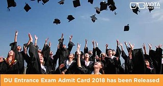 DU Entrance Exam Admit Card has been released