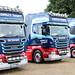Line-up of Rowells Transport Scania Trucks Ipswich Truckfest 2018