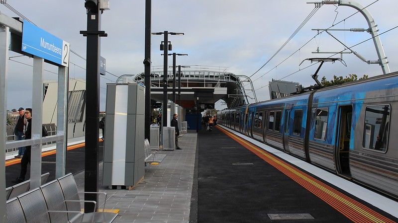 Murrumbeena skyrail station - open but not completed