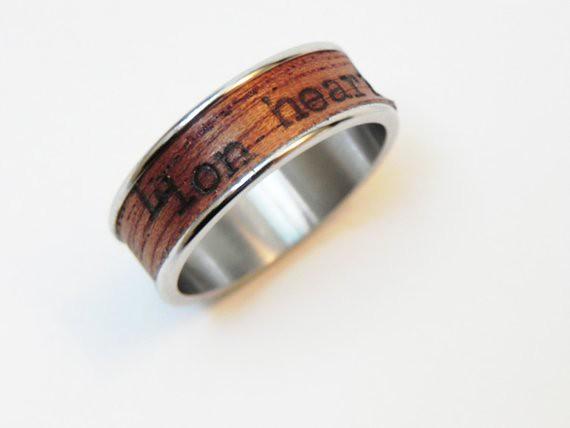 Wood Poetry Ring