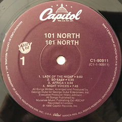 101 NORTH:101 NORTH(LABEL SIDE-A)