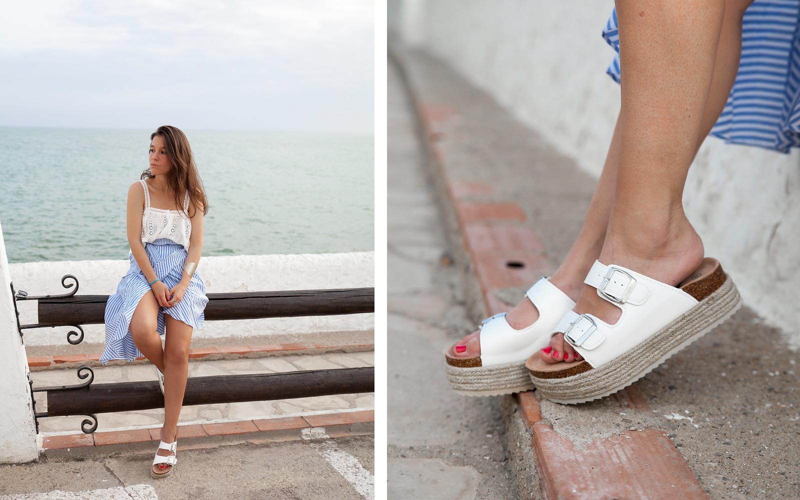 El look perfecto de verano para una Mediterranean Girl influencer barcelona theguestgirl xti shoes