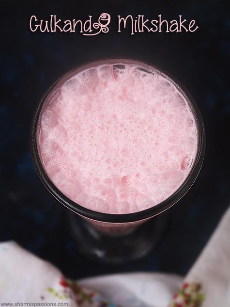 gulkand milkshake recipe