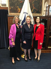 Rep. Kathleen McCarty, Rep. Holly Cheeseman and Rep. Cheeseman's sister Deborah Hayes attend the Coast Guard Academy graduation on May 23, 2018.
